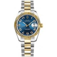 Rolex Datejust 31 Blue Dial Yellow Gold & Steel Watch 178273-BLUCAO