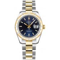 Rolex Datejust 31 Blue Dial Oyster Diamond Watch 178343-BLUSO