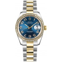 Rolex Datejust 31 Blue Dial Diamond Bezel Watch 178383-BLUCAO