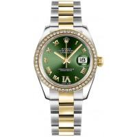 Rolex Datejust 31 Green Dial Yellow Gold & Steel Watch 178383-OGRNRDRO