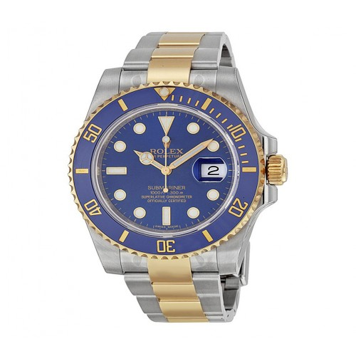 Submariner Blue Dial Stainless Steel and 18K Yellow Gold Oyster Bracelet Automatic Men's Watch 116613BLSO