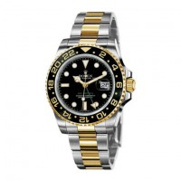 Rolex GMT-Master II Black Automatic stainless steel and 18kt yellow gold Mens Watch 116713LN