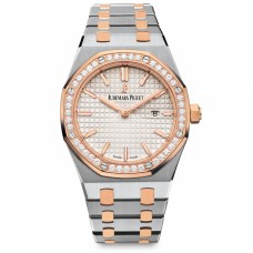 AUDEMARS PIGUET Ladies Royal Oak Collection Quartz 67651SR.ZZ.1261SR.01 Rose Gold & Stainless Steel Watch