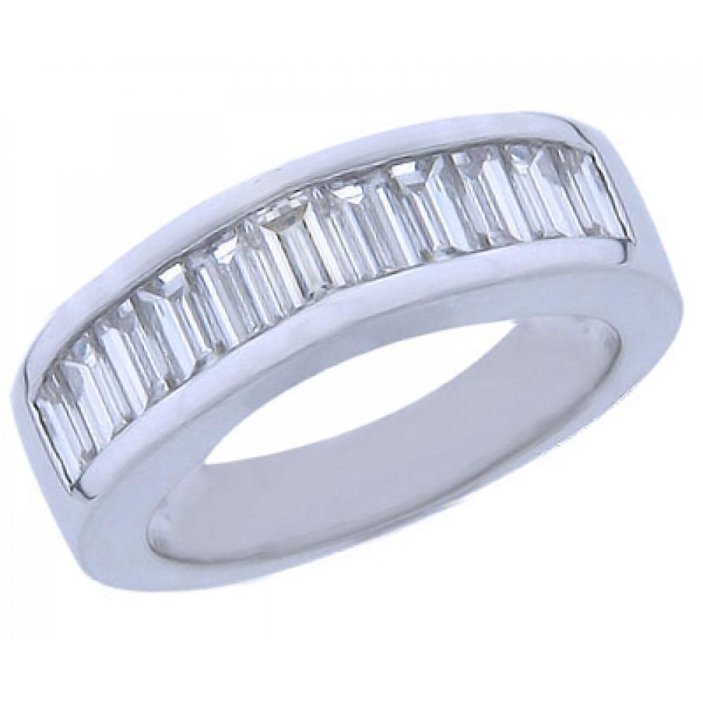 200 Ct Baguette Cut Diamond Wedding Band Ring