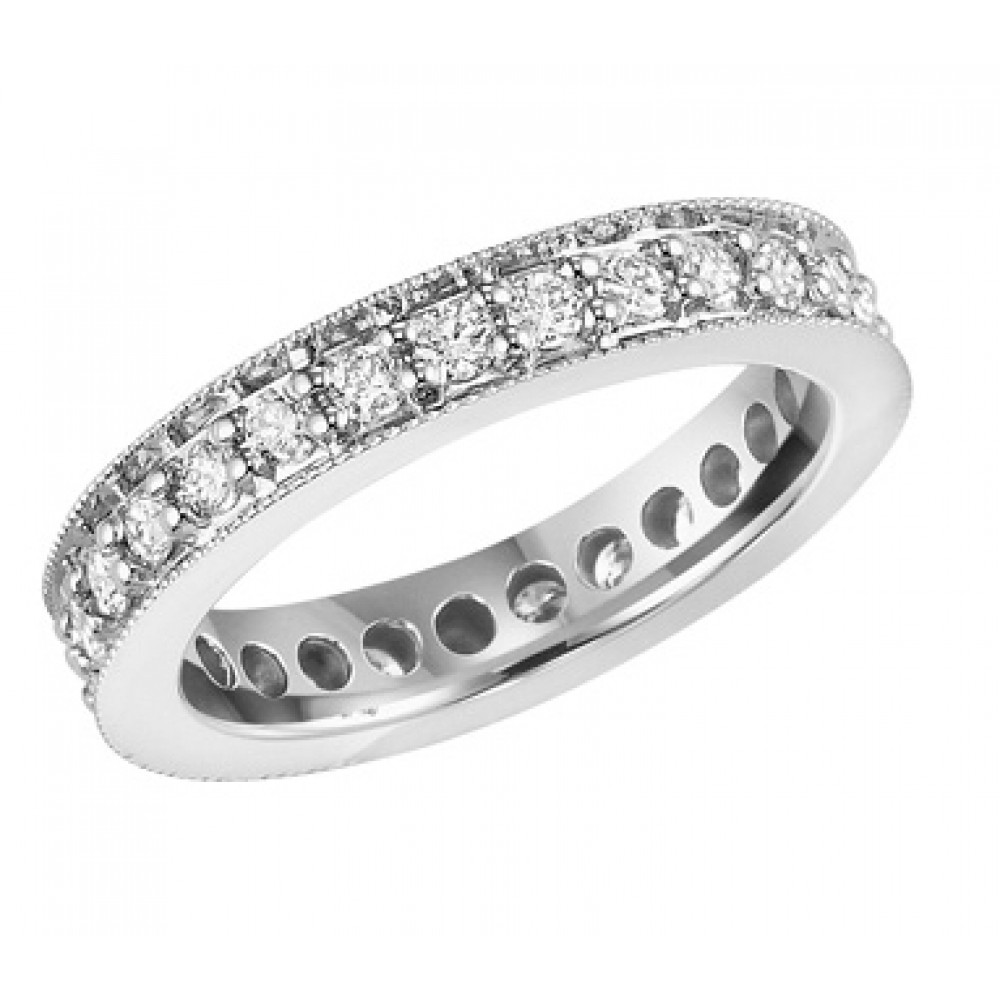 1 15 ct cut eternity wedding band ring