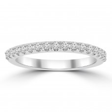 0.25 ct Ladies Round Cut Diamond Wedding Band in 4 Prong Setting