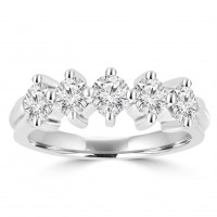 0.90 ct Ladies Brilliant Cut Diamond Wedding Band Ring