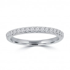 0.35 ct Ladies Round Cut Diamond Wedding Band in 14 kt White Gold
