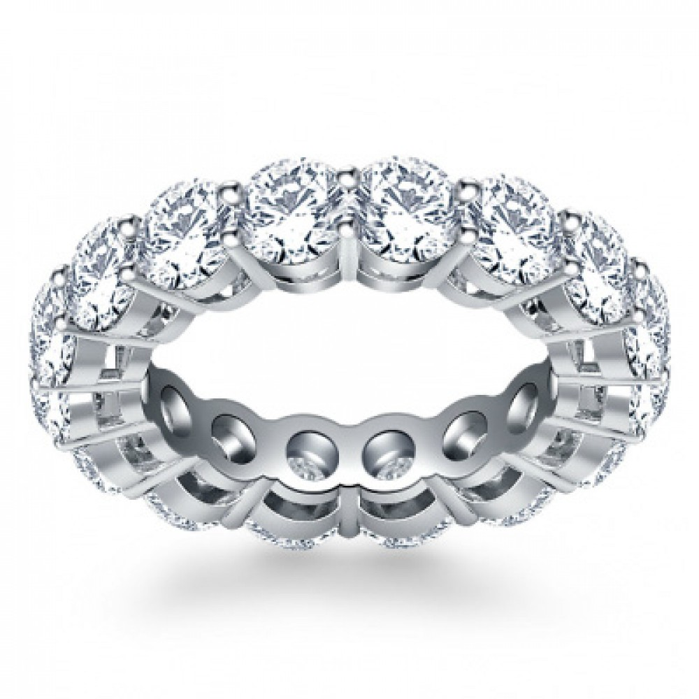 diamond with all product u eternity band round ring anniversary diamonds cut the ct bands prong around