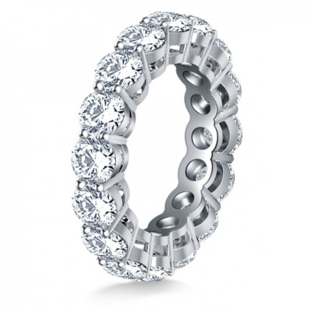 baguette products eternity band round bands cut alternating diamond platinum