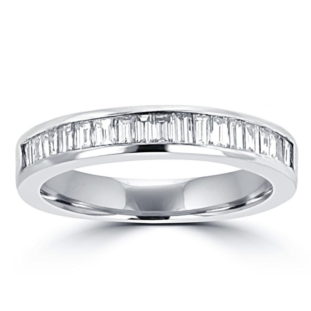0.75 Ct Ladies Baguette Cut Diamond Wedding Band