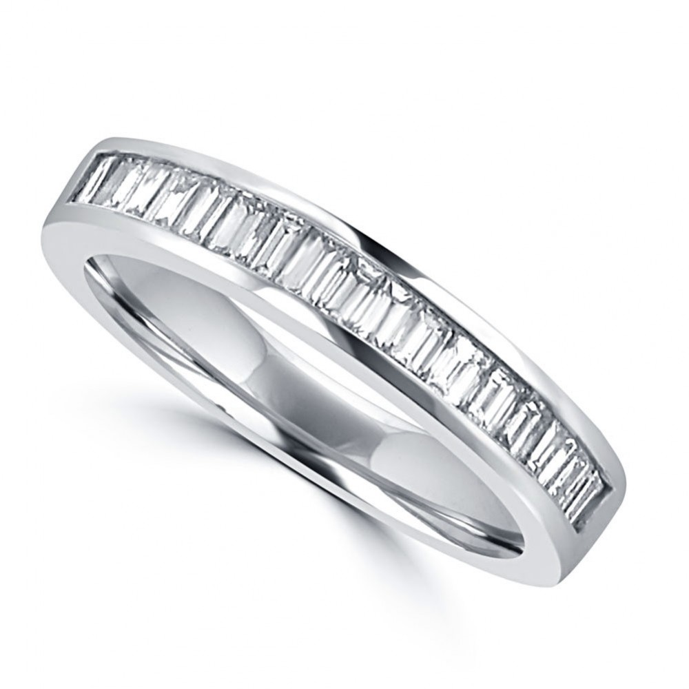 0 75 ct ladies baguette cut diamond wedding band