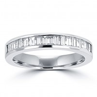 0.75 Ct Ladies Baguette Cut Diamond Wedding Band