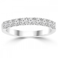 0.72ct Ladies Round Cut Diamond Wedding Band in 14 kt White Gold