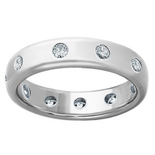0.75 Men's Round Cut Diamond Eternity Wedding Band Ring