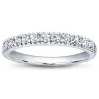 0.65 ct Ladies Pave Set Diamond Wedding Band Ring