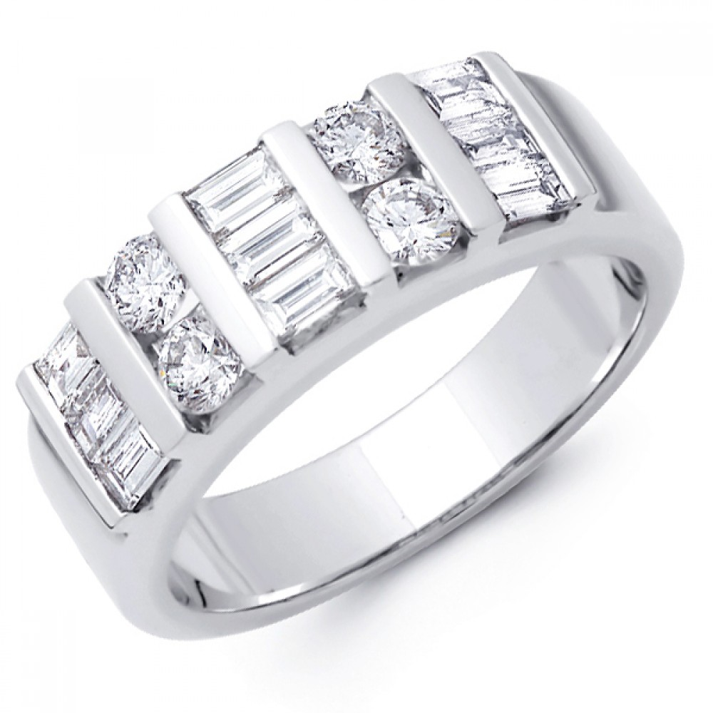 2 00 ct baguette and cut wedding band ring