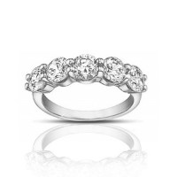 1.50 ct Ladies Round Cut Diamond Wedding Band Ring