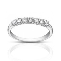 0.50 ct Ladies Round Cut Diamond Wedding Band Ring