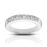 1.00 ct Ladies Princess Cut Diamond Wedding Band Ring