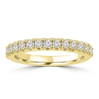 0.80 ct Ladies Round Cut Diamond Wedding Band Ring