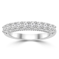 0.80 ct Ladies Round Cut Diamond Wedding Band in Prong Setting