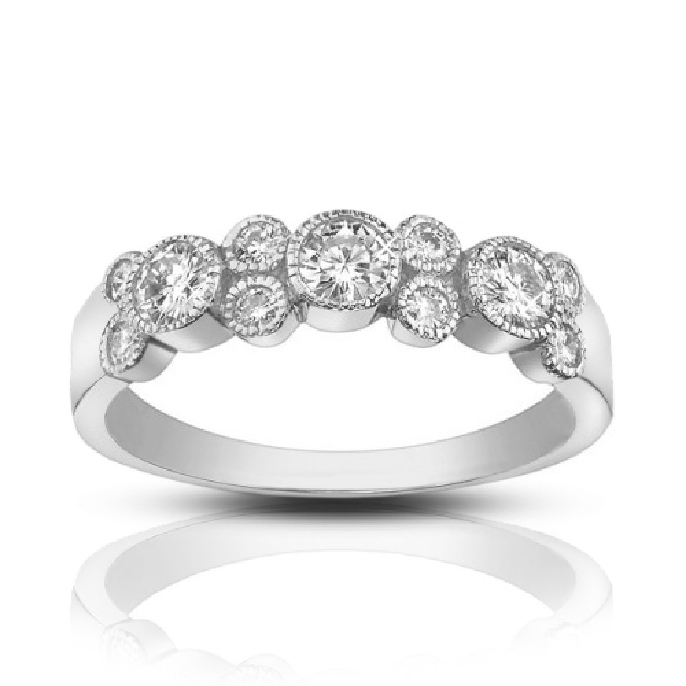 solitaire set gold diamond cp style rings in bezel collections signature white rd