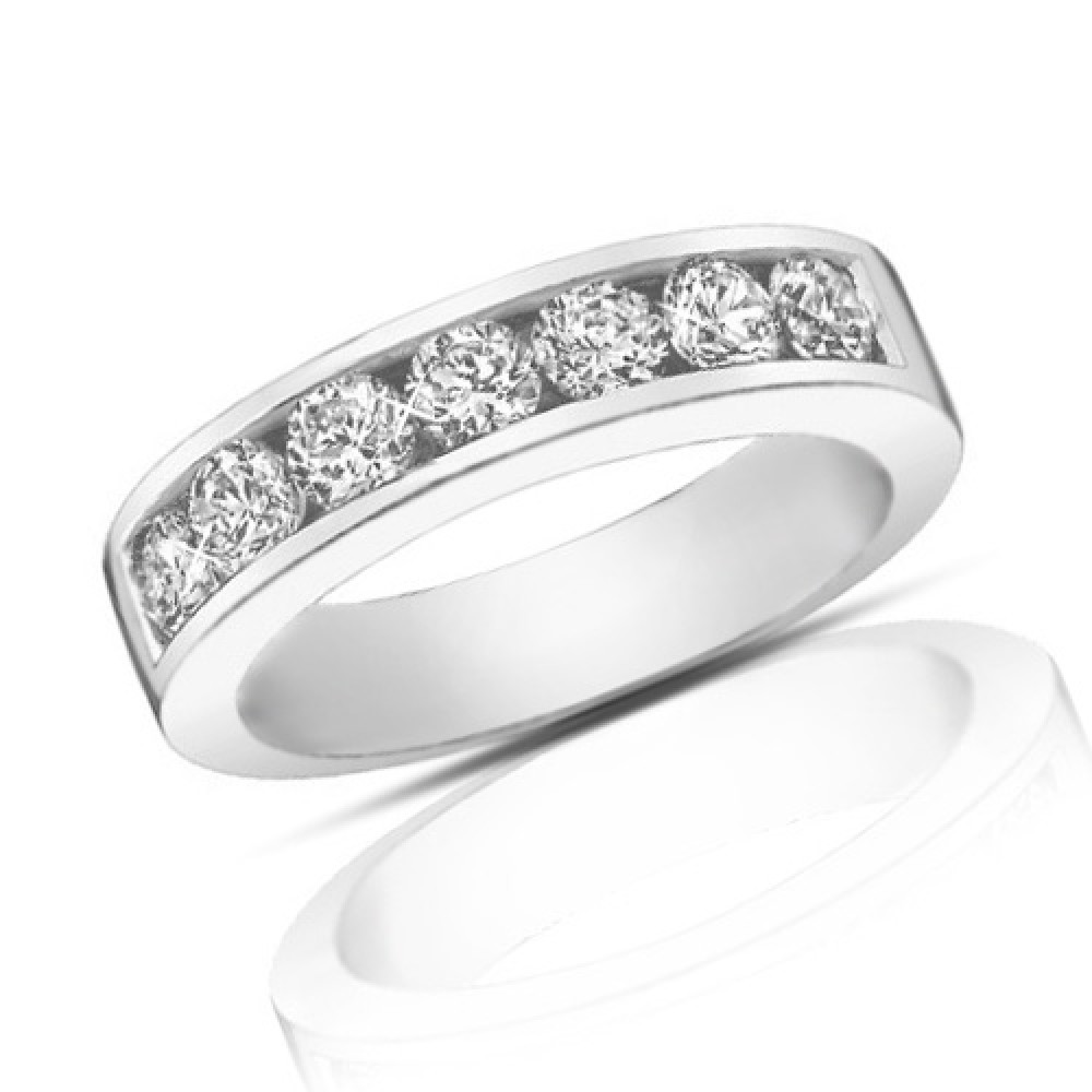 diamond round bands band wedding baguette set channel