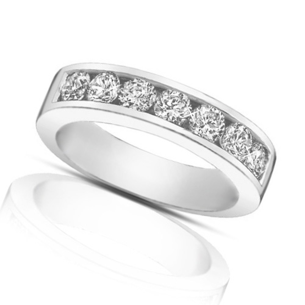 channel set wedding diamond band gold baguette ladies rng bands white ct