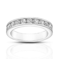 1.00 ct Round Cut Diamond Wedding Band Ring in Channel Setting
