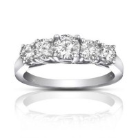 1.75 ct Ladies Round Cut Diamond Wedding Band Ring