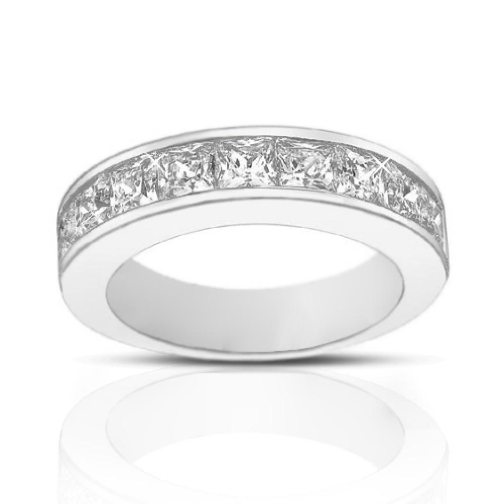 4 50 ct princess cut engagement ring set in