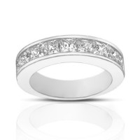 2.00 ct Ladies Princess Cut Diamond Wedding Band Ring