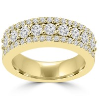 1.60 ct Ladies Round Cut Diamond Anniversary Ring in 14 kt Yellow Gold