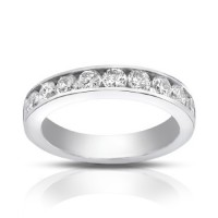 1.00 Ct Round Cut Diamond Wedding Band Ring