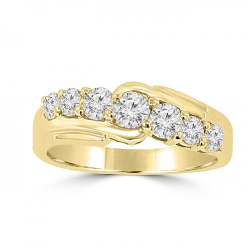 1.15 ct Round Cut Diamond Wedding Band Ring in Prong Setting