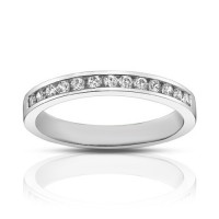 0.75 ct Ladies Round Cut Diamond Wedding Band Ring In Gold