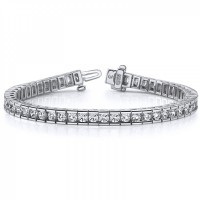 3.00 ct Ladies Round Cut Diamond Tennis Bracelet In Channel Setting