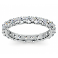 2.00 ct Ladies Round Cut Diamond Eternity Wedding Band