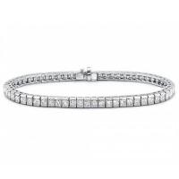6.00 ct Ladies Princess Cut Diamond Tennis Bracelet In Channel Setting