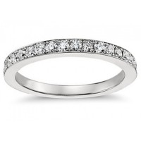 0.50 ct Ladies One Row Diamond Wedding Band Ring