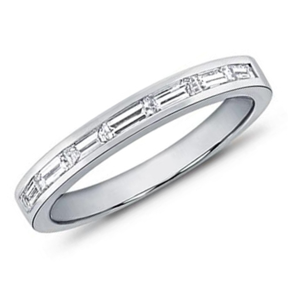 25 Photo of Baguette And Round Diamond Weaved Anniversary