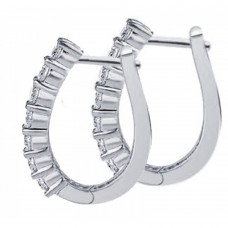 0.50 ct Ladies Diamond Hoop Earring in 14 kt White Gold