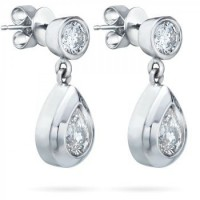1.50 ct Ladies Round Cut Diamond Drop Earrings