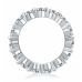 2.25 ct Round Cut Diamond Share Prong Eternity Wedding Band Ring