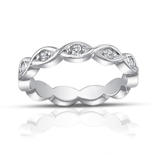 0.60 ct Ladies Round Cut Diamond Eternity Band Ring
