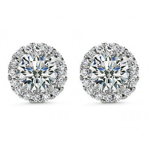 1.50 ct Round Cut Cubic Zirconia Stud Earrings in Screw Back