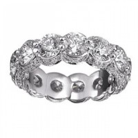 6.00 ct Ladies Round Cut Diamond Eternity Wedding Band Ring