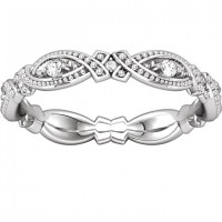 1.00 ct Ladies Round Cut Diamond Eternity Wedding Band Ring