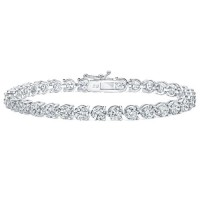 5.00 ct Ladies Round Cut Diamond Three Prong Tennis Bracelet
